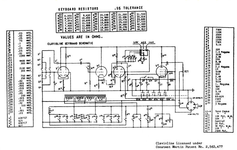 keyboard schematic diagram wiring diagram online PC Keyboard Schematic Diagram gibson clavioline keyboard instrument (1953) ps2 schematics keyboard schematic diagram