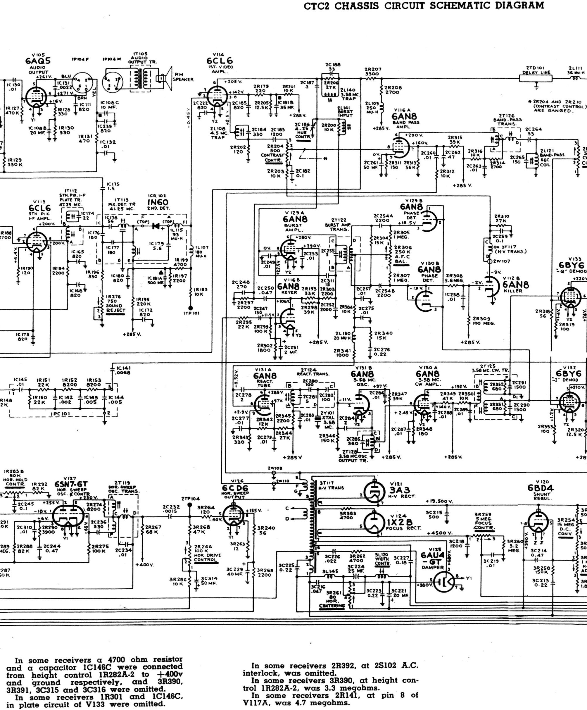 Rca Ct 100 Chassis Intrigue Tv Video Vintage Old Engineering Schematics I Find It A Much Better Troubleshooting Tool Than The Others Because Engineers Annotated This Schematic With Bold Lines To Indicate Primary