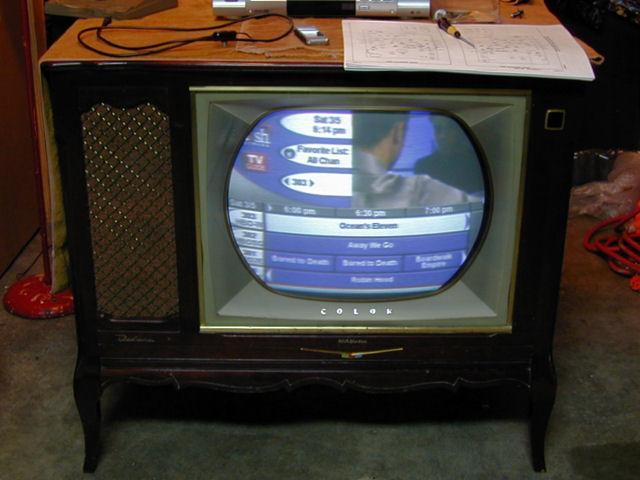 Rca Model Ctc 7 Color Television 1958