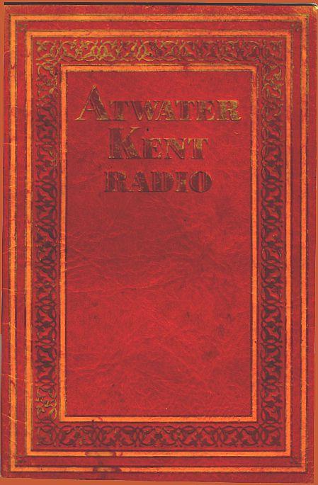 Atwater Kent Radio Catalog  1929