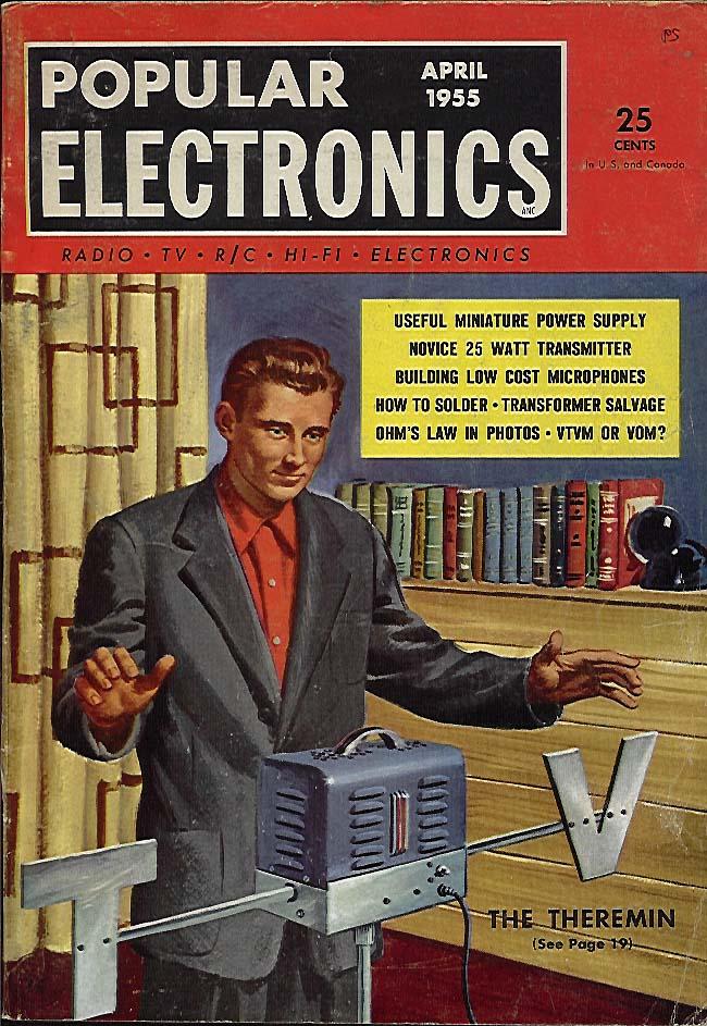 Popular Electronics Magazine April 1955